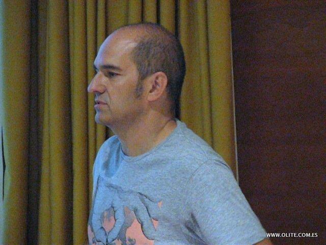 Juan Carlos Antón, en la conferencia donde nos mostró el paraíso del Ajedrez existente en San Sebastián de los Reyes